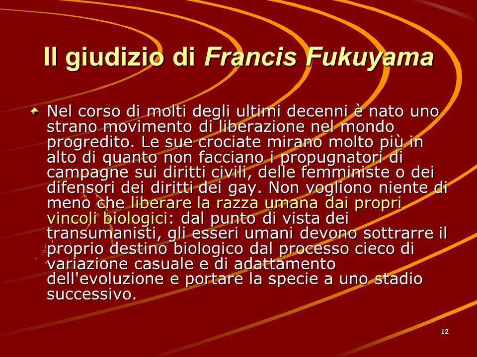 Il giudizio di Francis Fukuyama