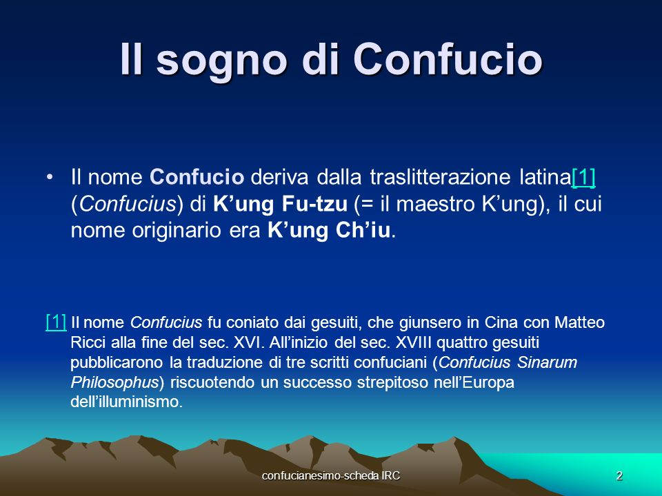 confucianesimo scheda IRC
