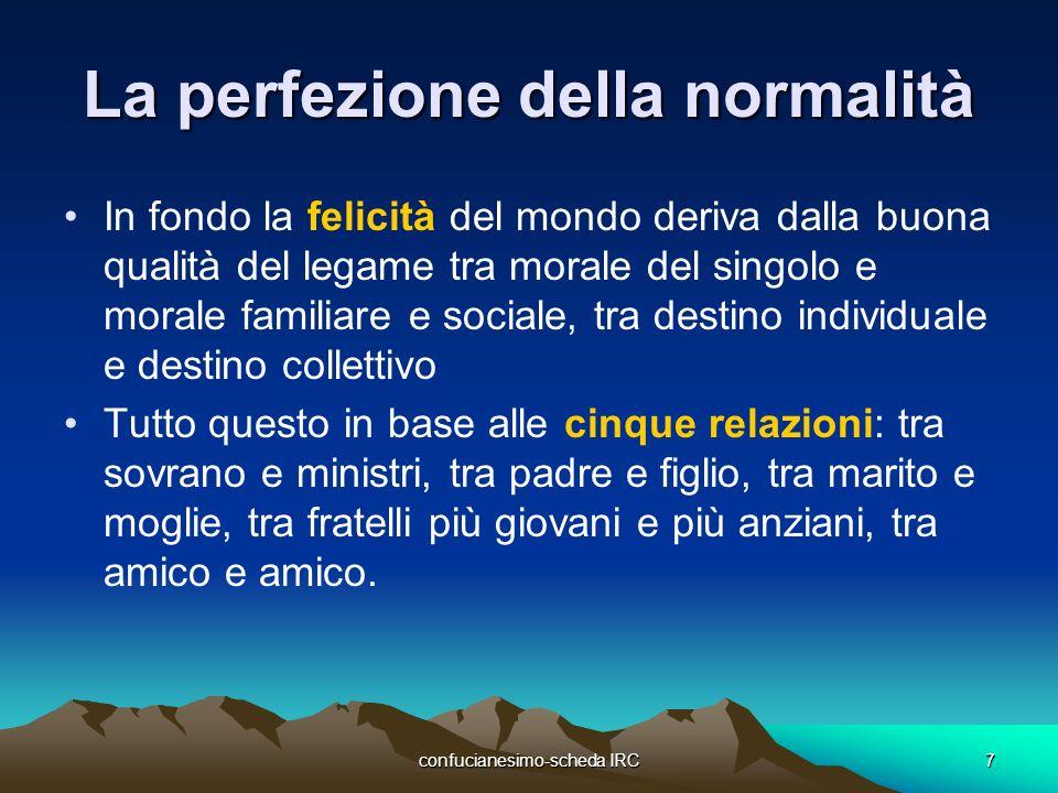 La perfezione della normalità