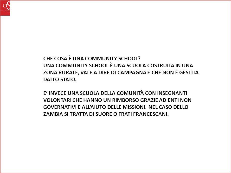 CHE COSA È UNA COMMUNITY SCHOOL