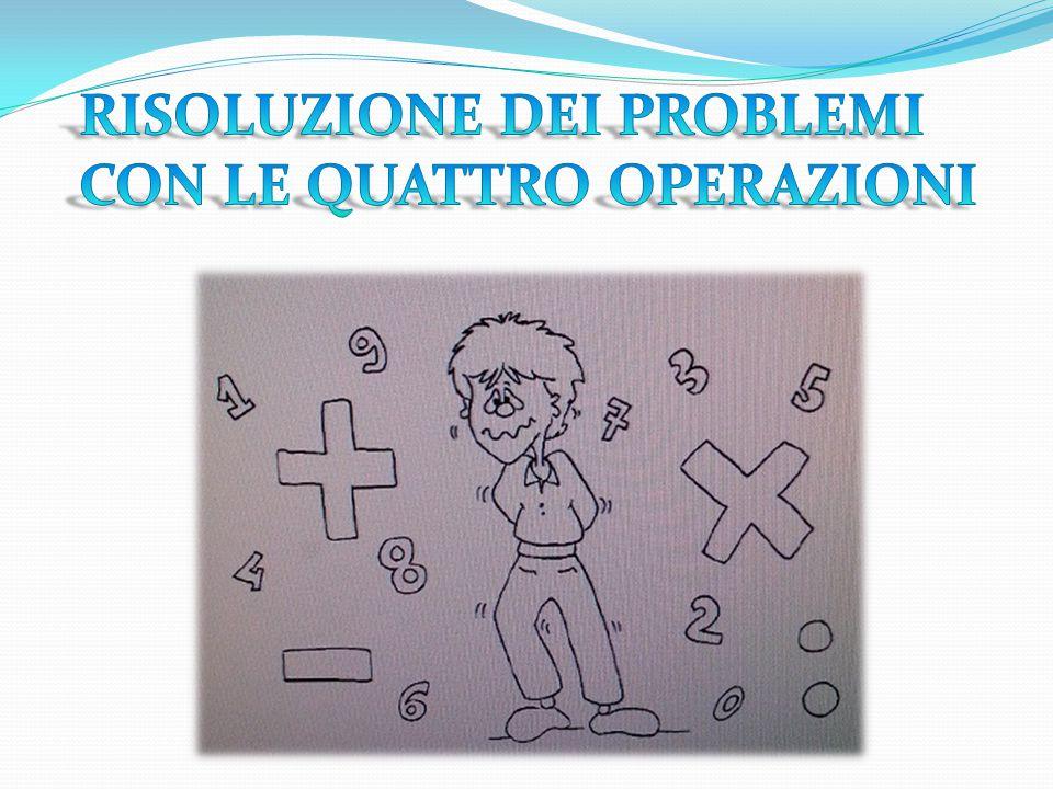 RISOLUZIONE DEI PROBLEMI CON LE QUATTRO OPERAZIONI