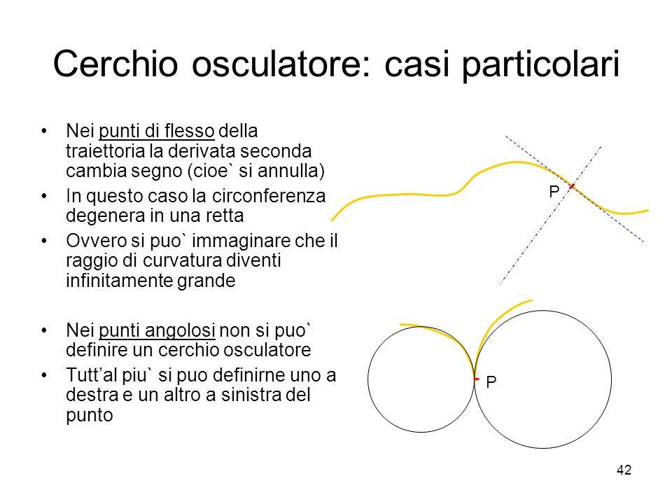 Cerchio osculatore: casi particolari