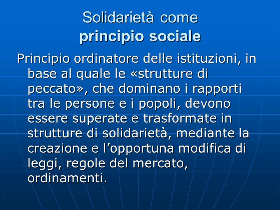 Solidarietà come principio sociale