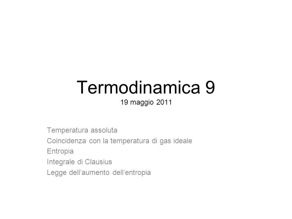 Termodinamica 9 19 maggio 2011 Temperatura assoluta