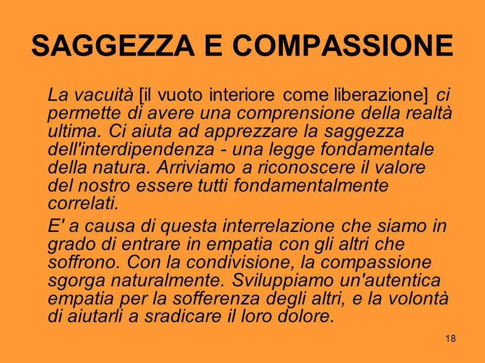 SAGGEZZA E COMPASSIONE