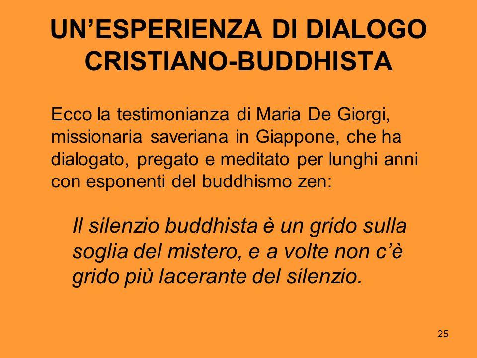UN'ESPERIENZA DI DIALOGO CRISTIANO-BUDDHISTA