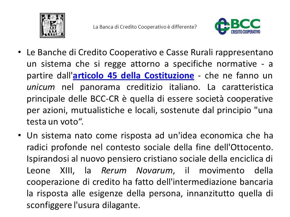 La Banca di Credito Cooperativo è differente