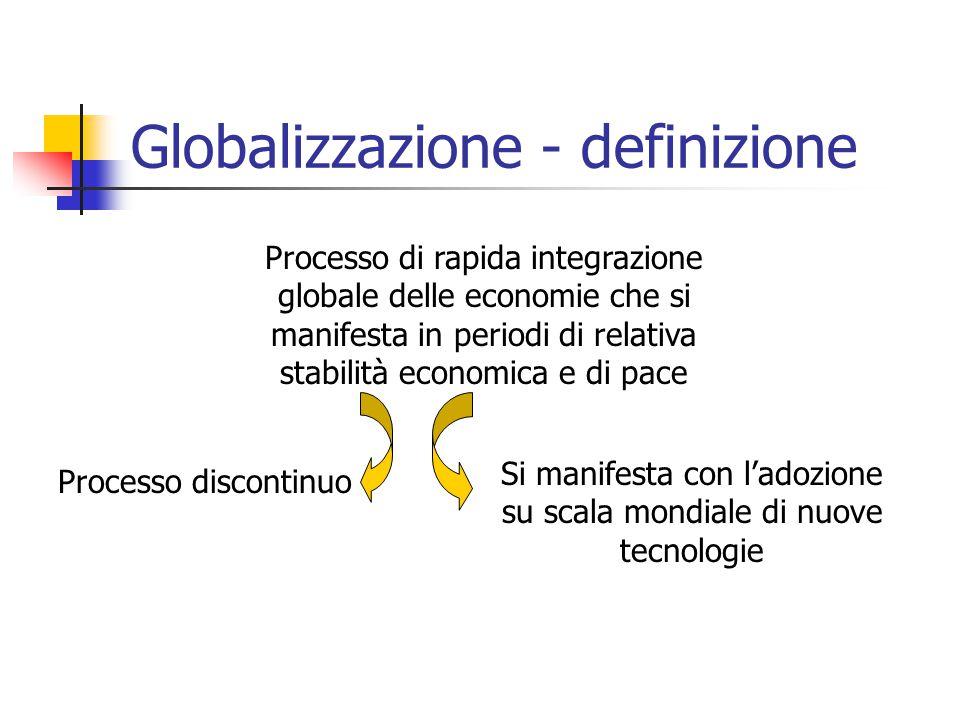 Globalizzazione - definizione