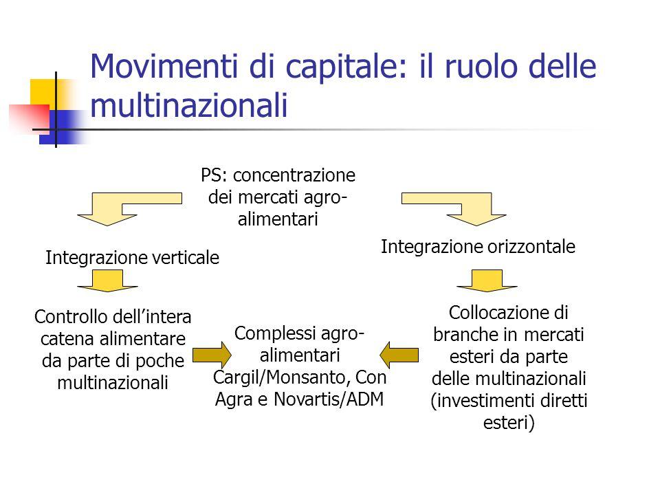 Movimenti di capitale: il ruolo delle multinazionali