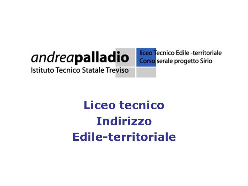 Liceo tecnico Indirizzo Edile-territoriale
