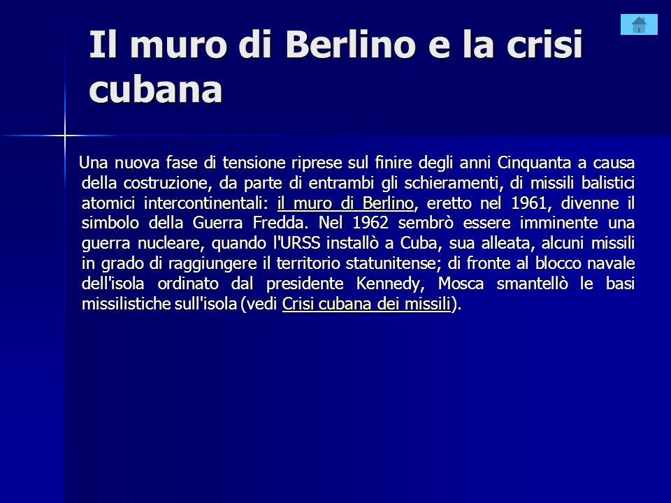 Il muro di Berlino e la crisi cubana