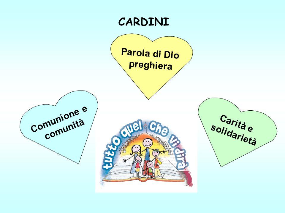 CARDINI Parola di Dio preghiera Comunione e comunità Carità e