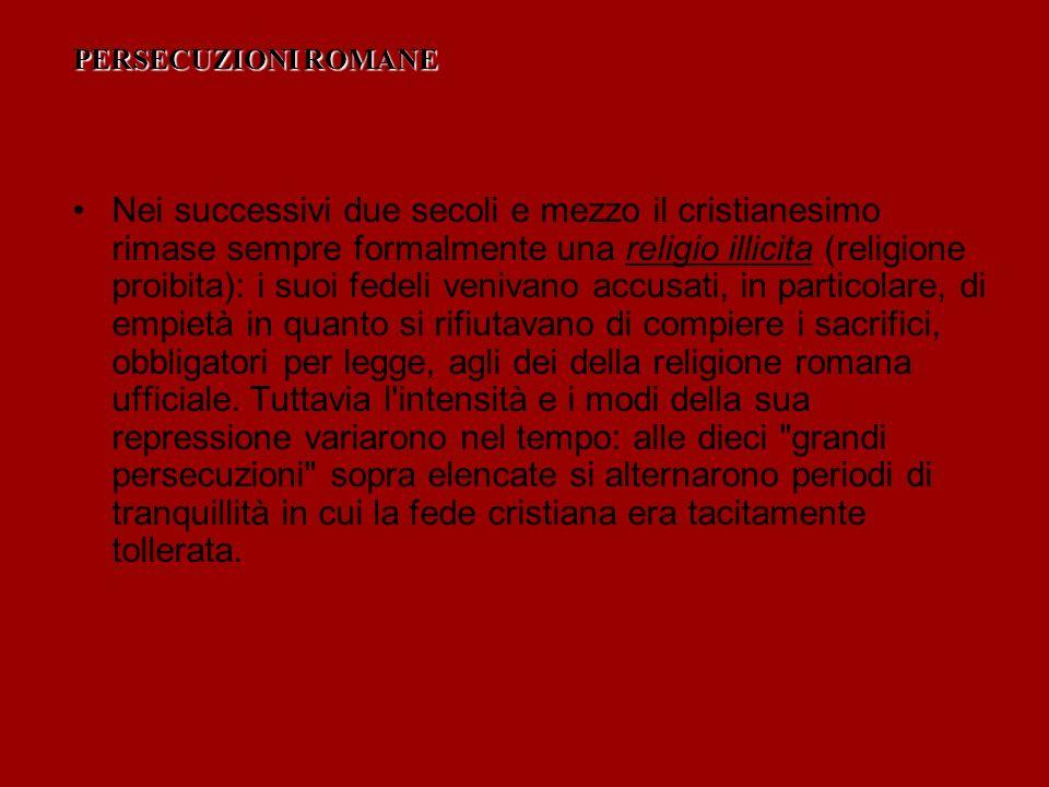 PERSECUZIONI ROMANE