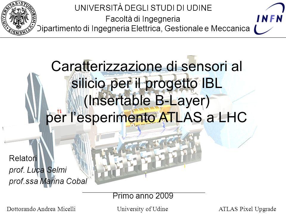 per l'esperimento ATLAS a LHC