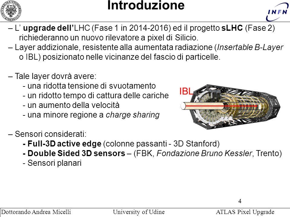 Introduzione – L' upgrade dell'LHC (Fase 1 in 2014-2016) ed il progetto sLHC (Fase 2) richiederanno un nuovo rilevatore a pixel di Silicio.