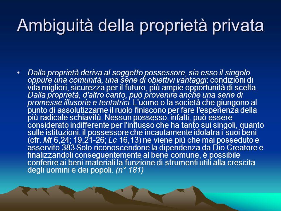 Ambiguità della proprietà privata