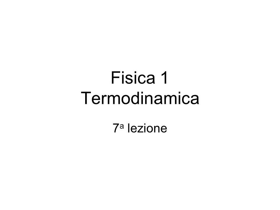 Fisica 1 Termodinamica 7a lezione