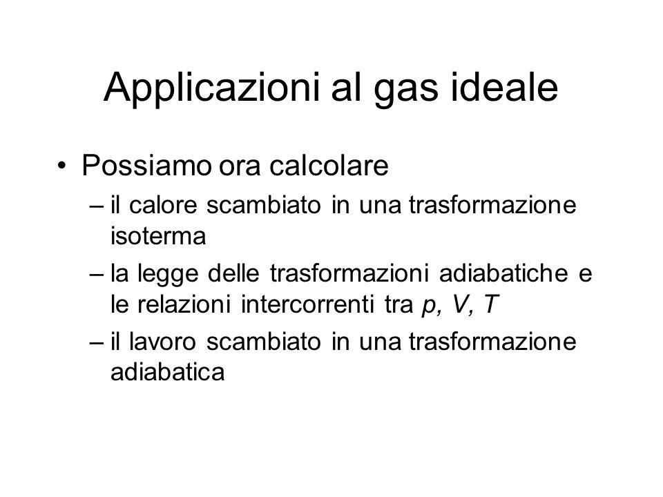 Applicazioni al gas ideale