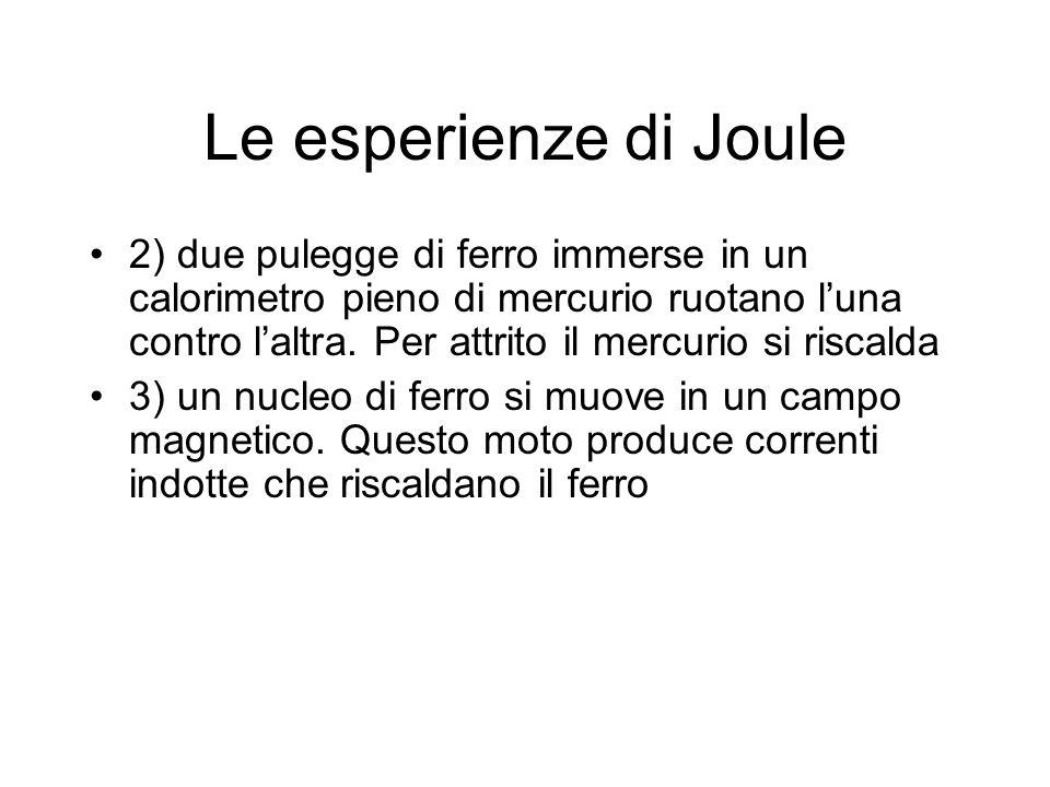 Le esperienze di Joule
