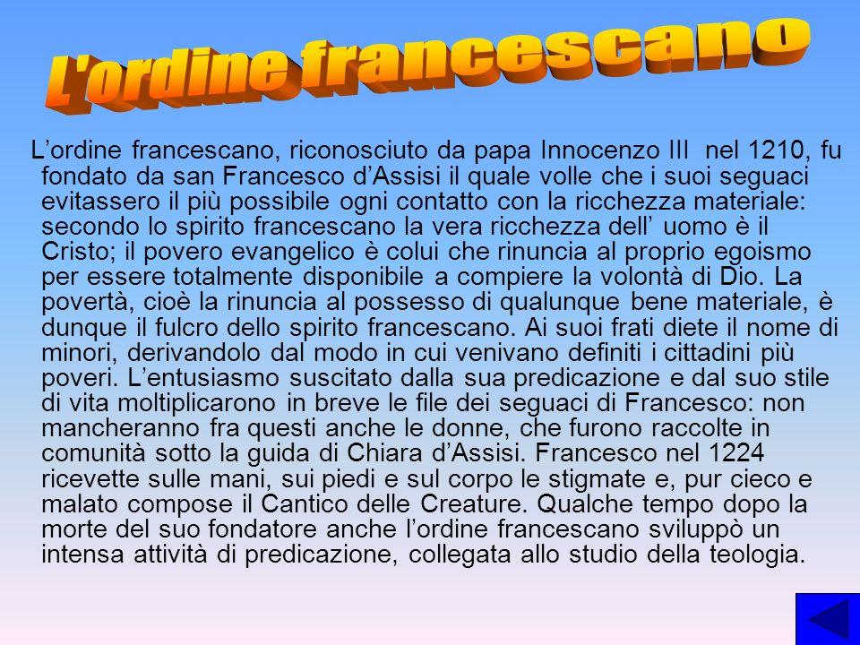 L ordine francescano