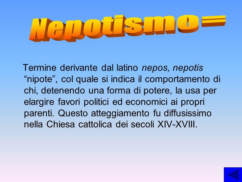 Nepotismo=