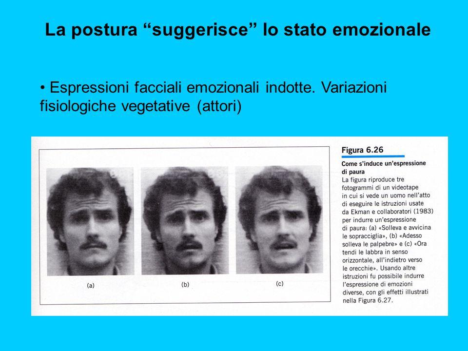 La postura suggerisce lo stato emozionale