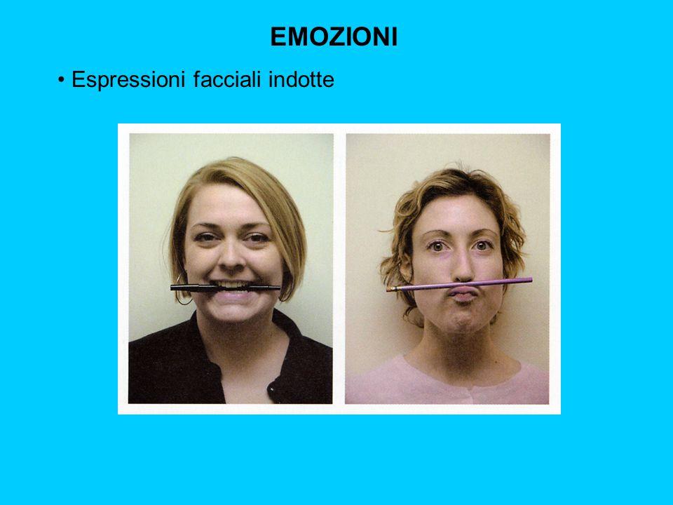 EMOZIONI Espressioni facciali indotte