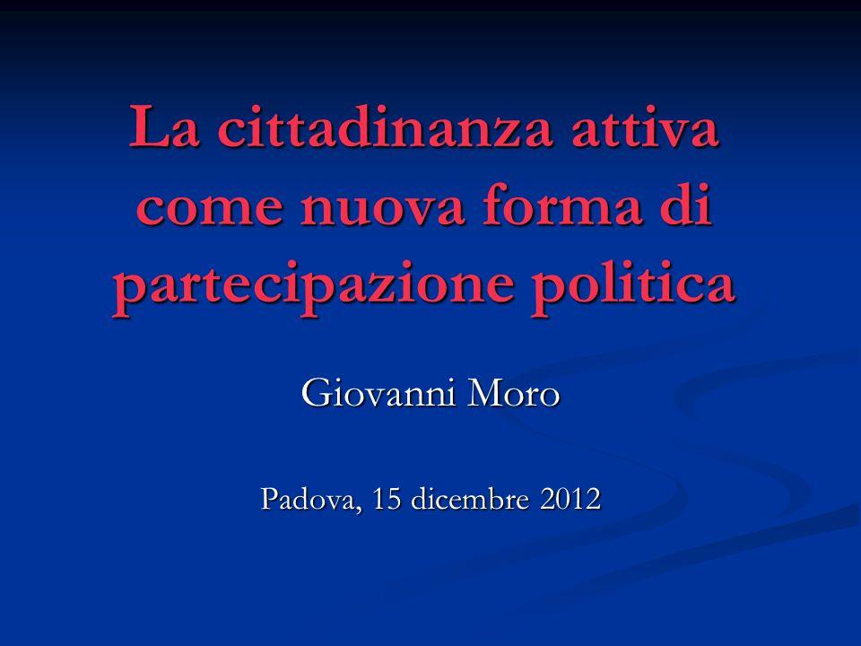 La cittadinanza attiva come nuova forma di partecipazione politica