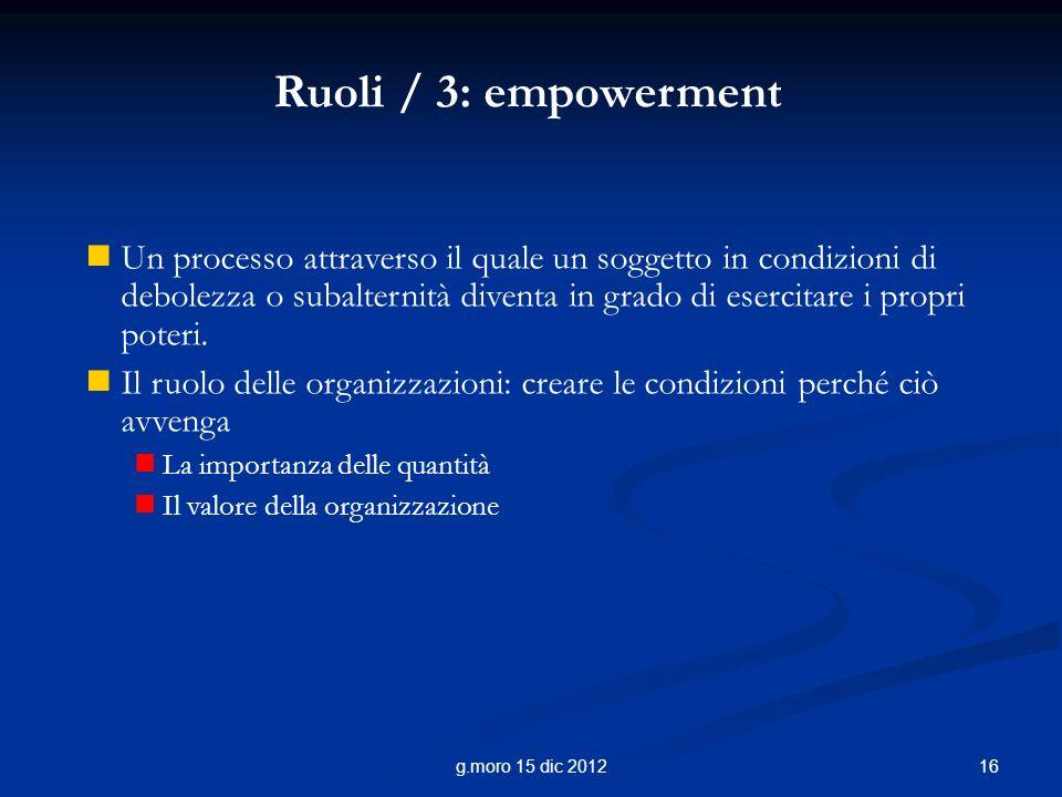 Ruoli / 3: empowerment