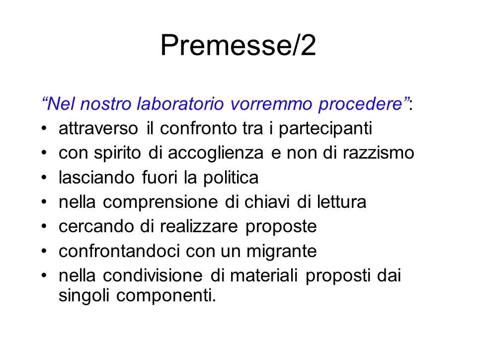 Premesse/2 Nel nostro laboratorio vorremmo procedere :