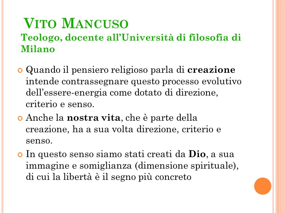 Vito Mancuso Teologo, docente all'Università di filosofia di Milano
