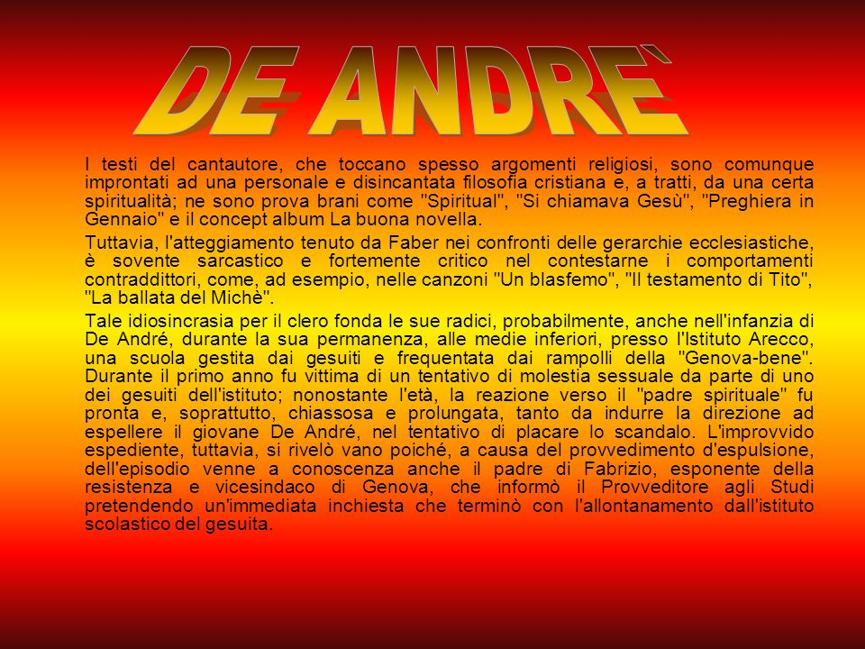 DE ANDRE`