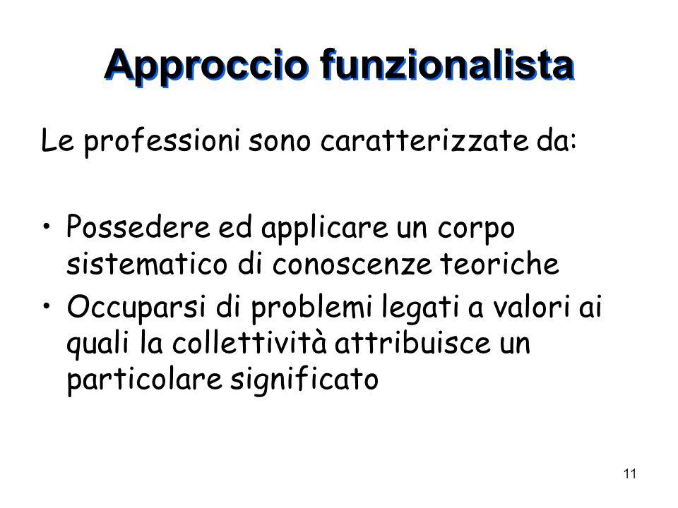 Approccio funzionalista