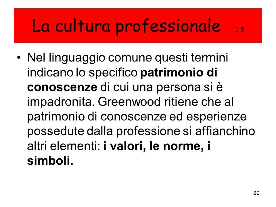 La cultura professionale 1-5