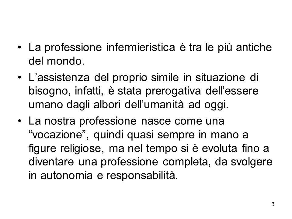 La professione infermieristica è tra le più antiche del mondo.
