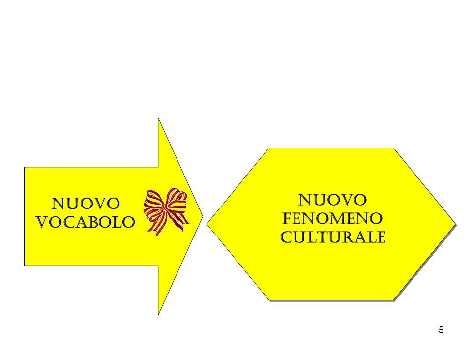 NUOVO FENOMENO CULTURALE