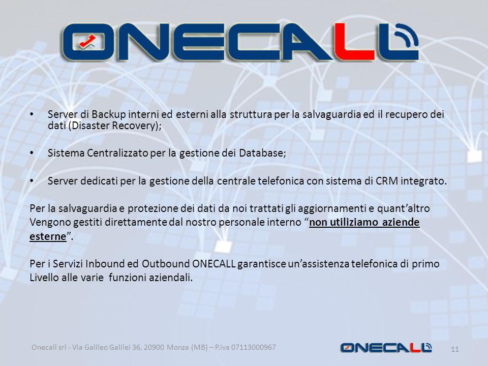 Sistema Centralizzato per la gestione dei Database;
