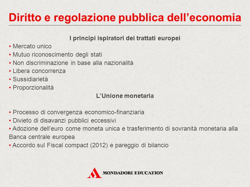 Diritto e regolazione pubblica dell'economia