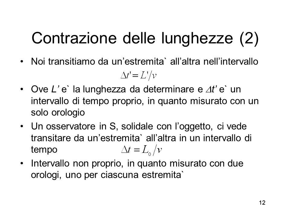 Contrazione delle lunghezze (2)