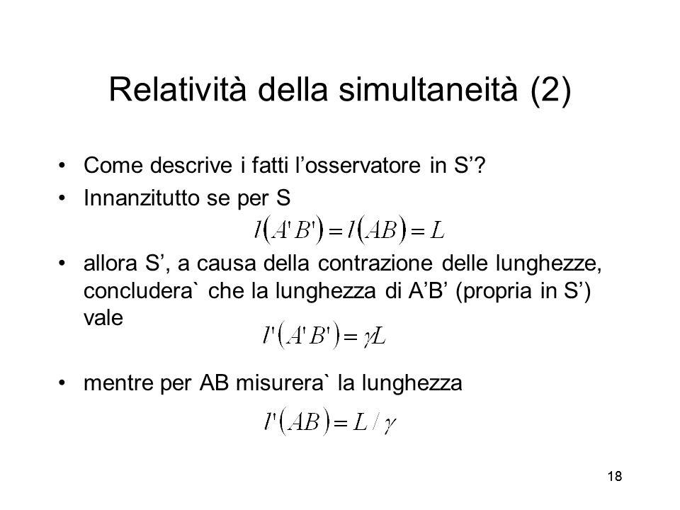 Relatività della simultaneità (2)