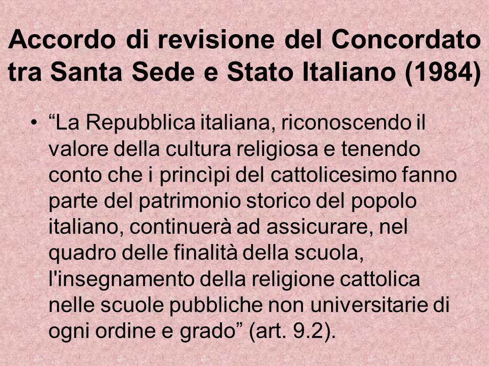 Accordo di revisione del Concordato tra Santa Sede e Stato Italiano (1984)