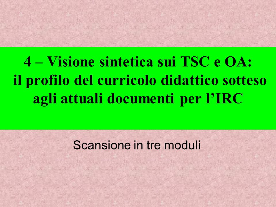 Scansione in tre moduli
