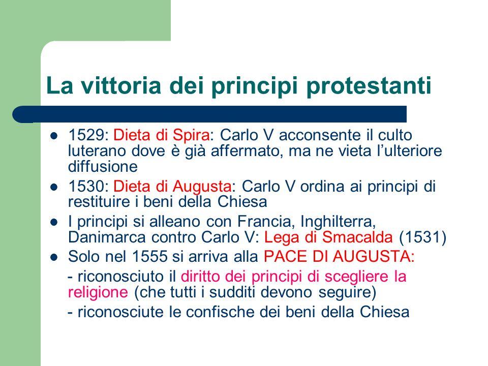 La vittoria dei principi protestanti