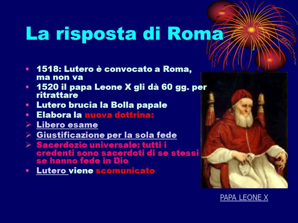 La risposta di Roma 1518: Lutero è convocato a Roma, ma non va