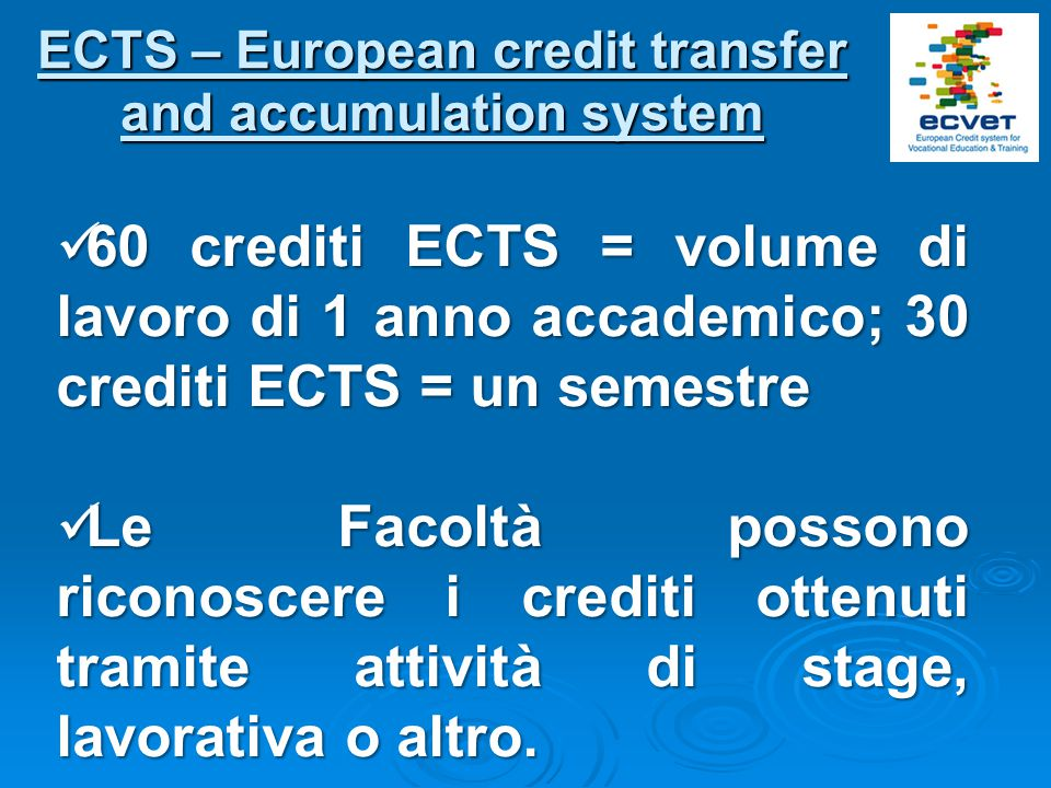 ECTS – European credit transfer and accumulation system