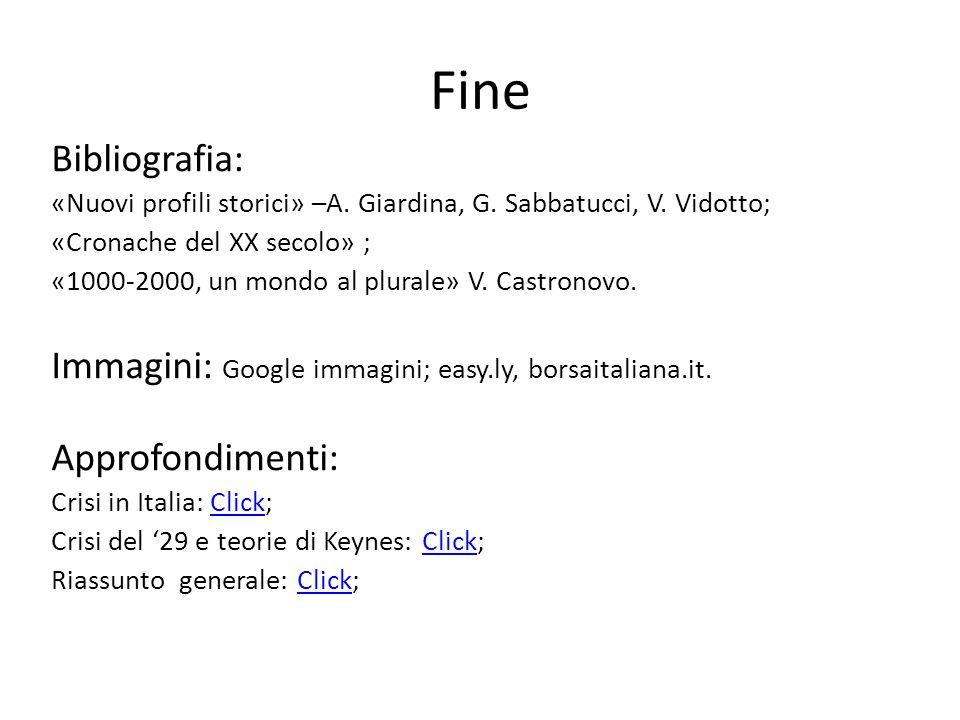 Fine Bibliografia: «Nuovi profili storici» –A. Giardina, G. Sabbatucci, V. Vidotto; «Cronache del XX secolo» ;