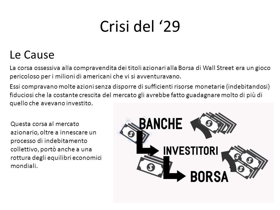 Crisi del '29 Le Cause.