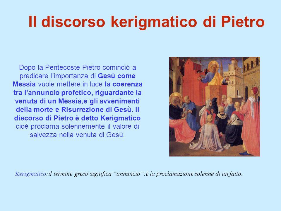 Il discorso kerigmatico di Pietro