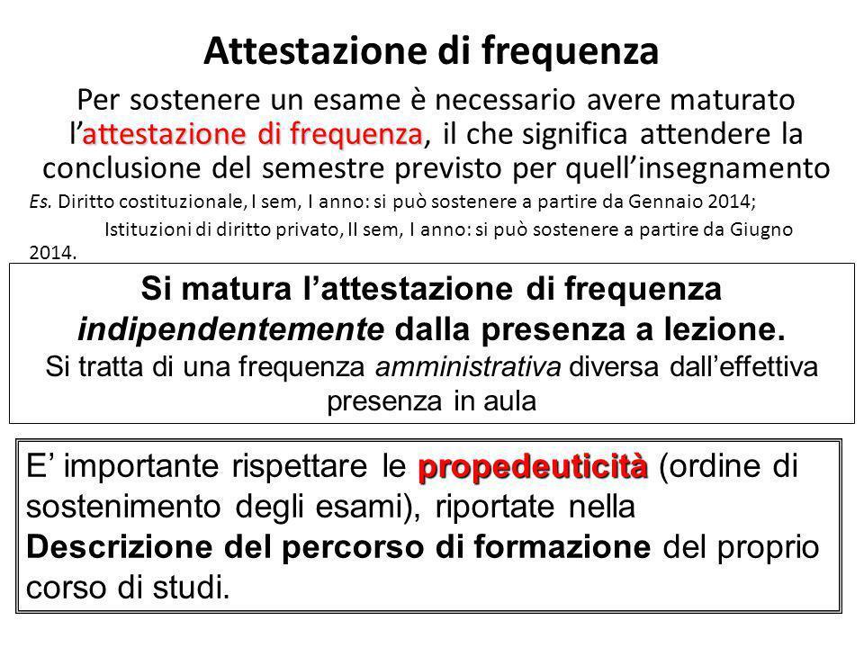 Attestazione di frequenza