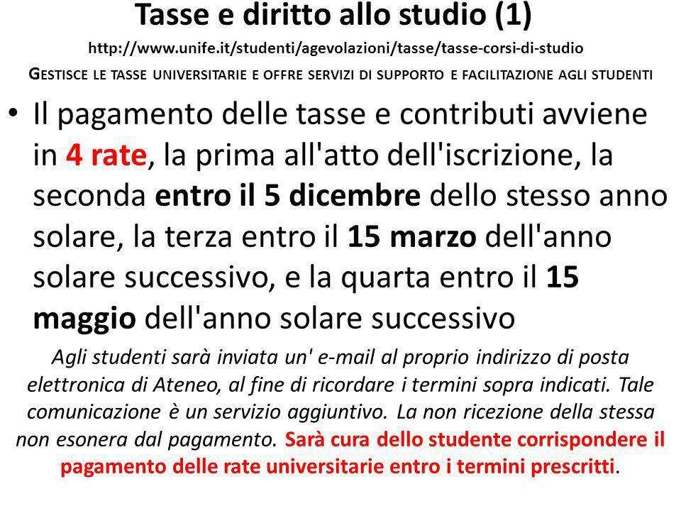 Tasse e diritto allo studio (1) http://www. unife